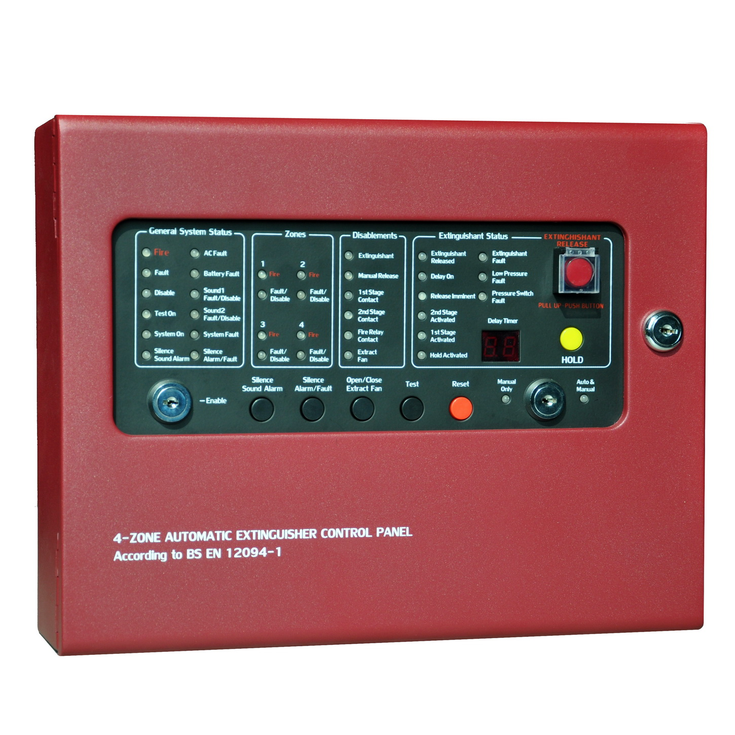 Fire Alarm and gas extinguishment panel