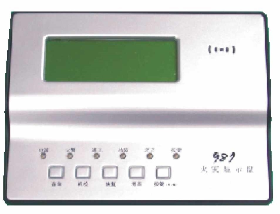 Floor repeater panel fire alarm display with horn/strobe alarm