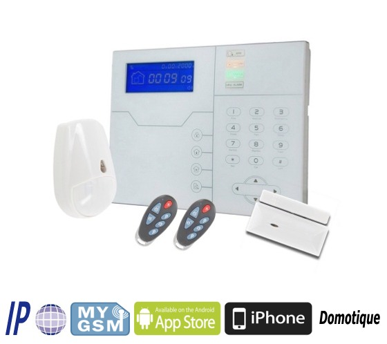 TCP/IP GSM RFID Smart Home Alarm Panel