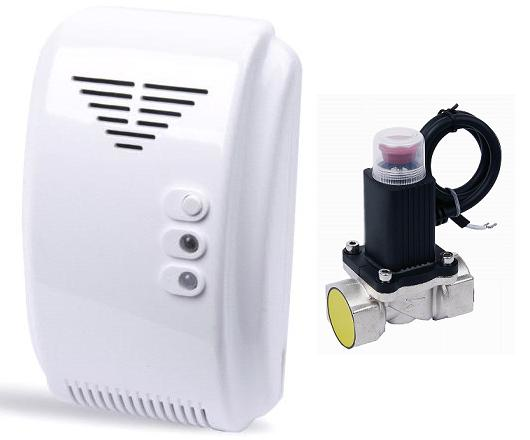 Fire Alarm Flammable Gas Detector with Solenoid Valve