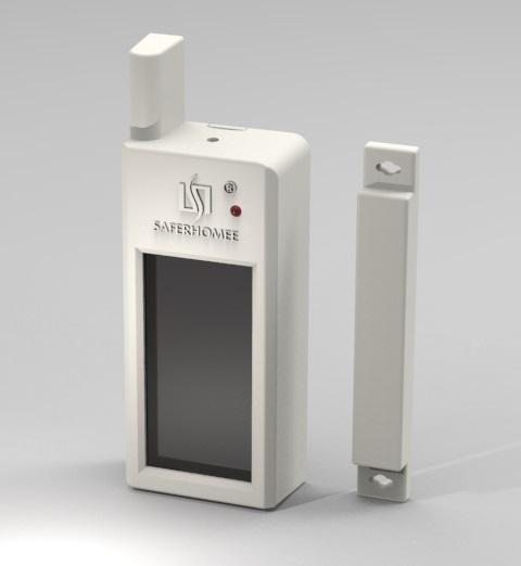 Wireless Magnetic Contact Solar Powered Door Switch Door