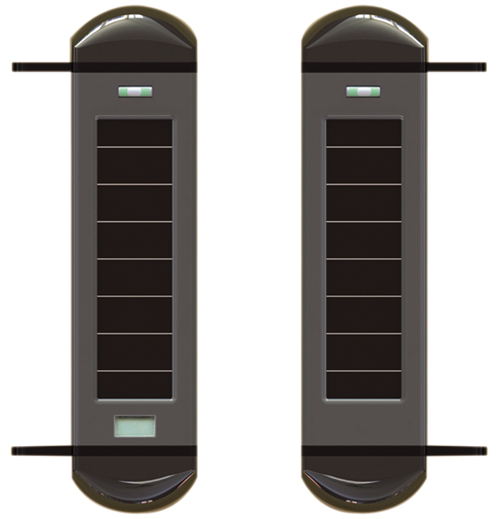 3-beams Detector solar-powered LCD calibrator security service