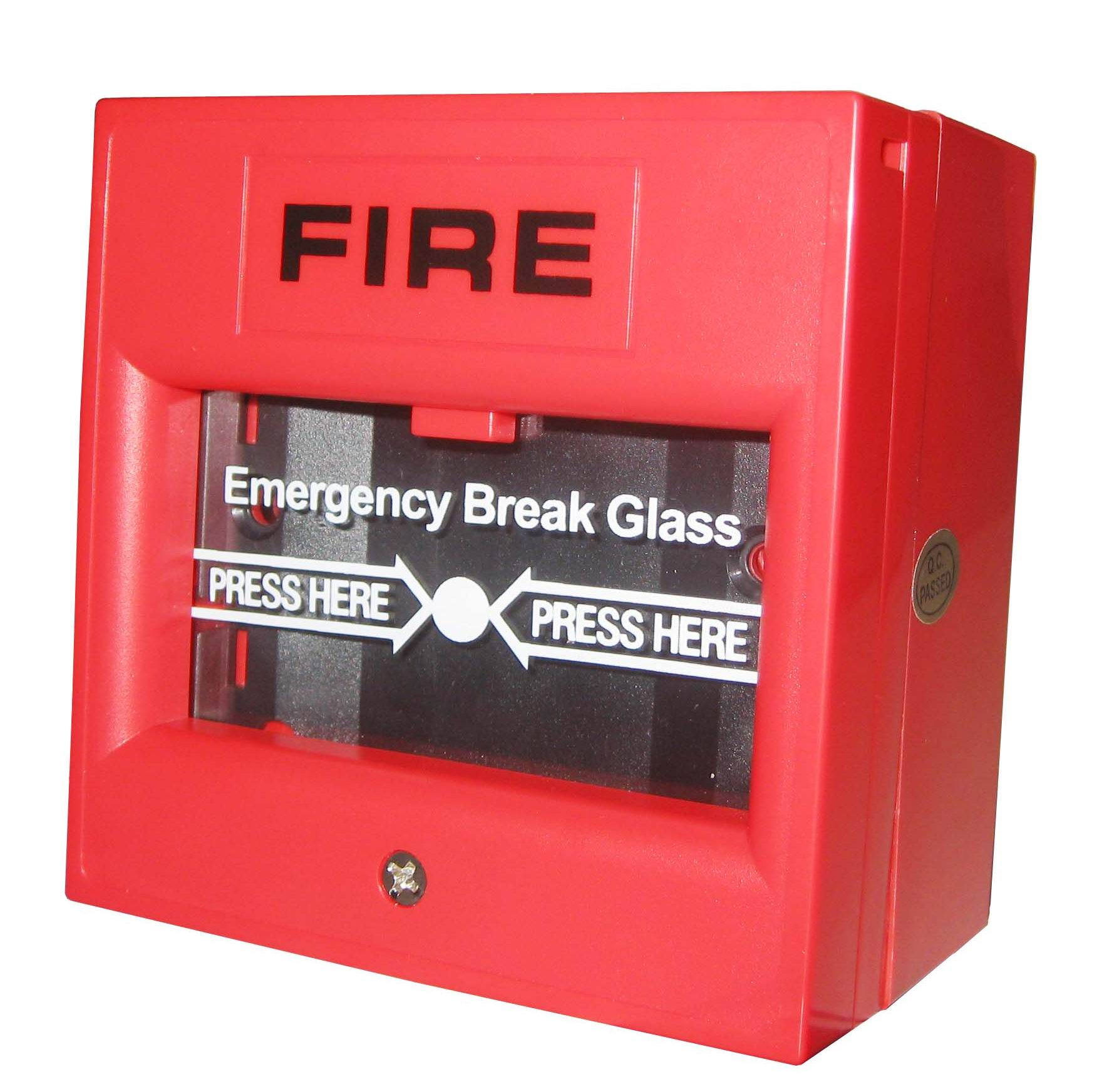 Emergency break glass Fire Alarm manual call point