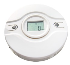 CO detector Wireless toxic gas sensor LCD screen