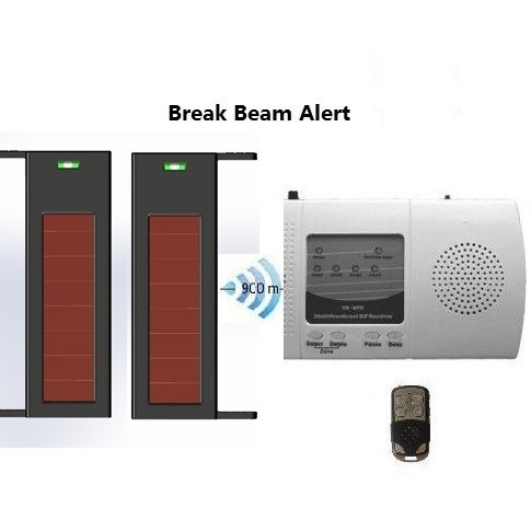 2 Beams Solar power wireless sensor with receiver home security